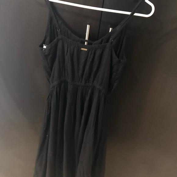 Volcom Dresses Volvom Black Long Flowy Dress Poshmark